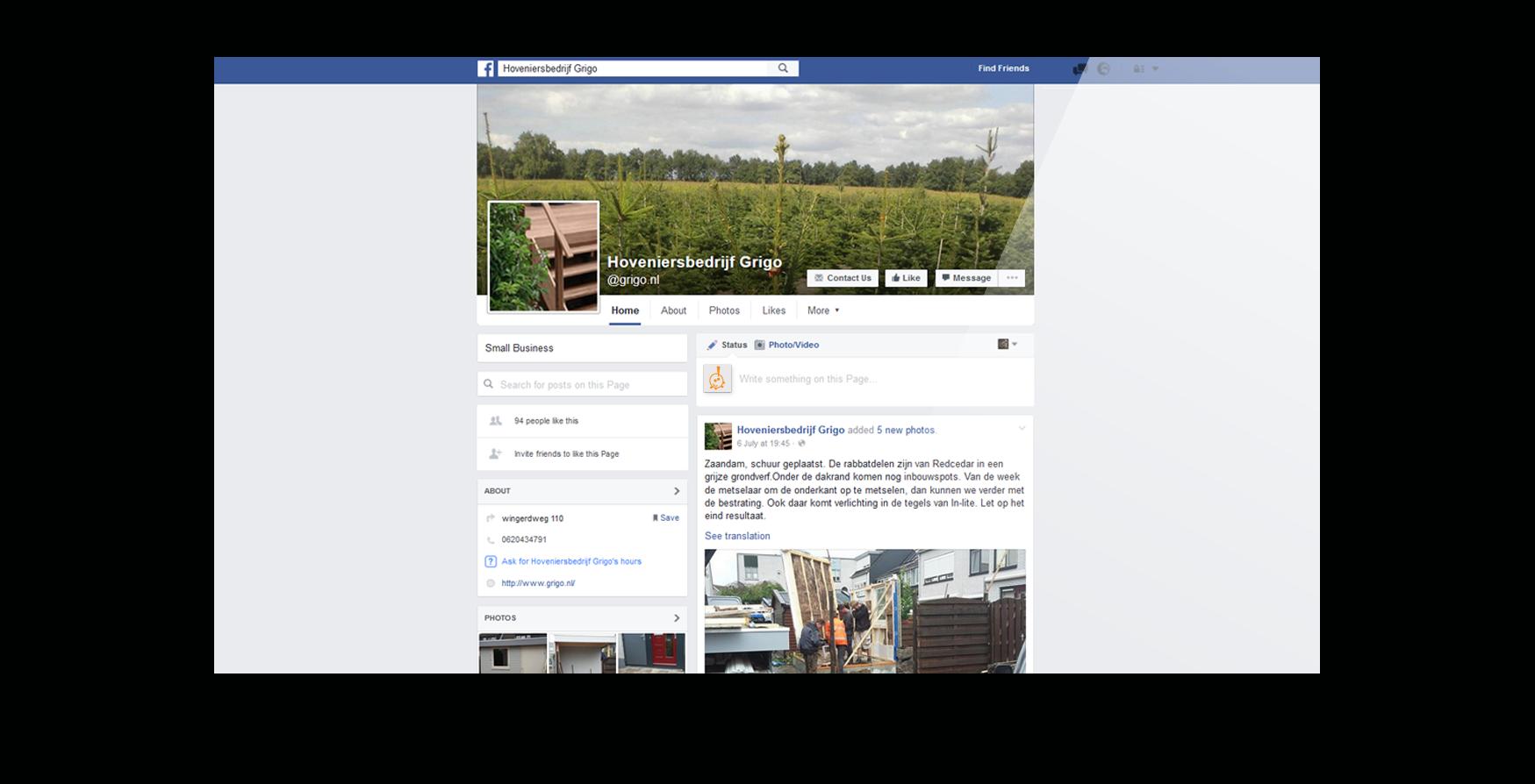 Facebook bedrijfspagina laten maken